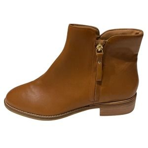 Crevo Leather Ankle Booties Brown 9 NWOB
